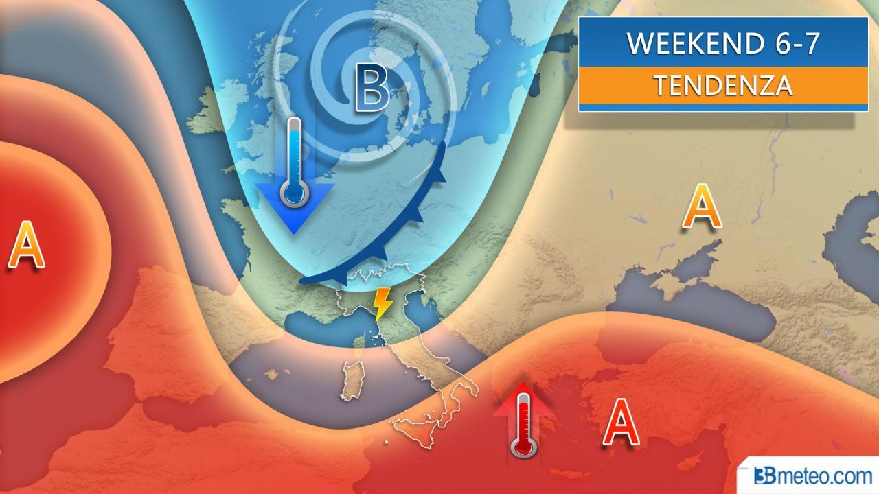 Meteo tendenza per il weekend 6-7 giugno