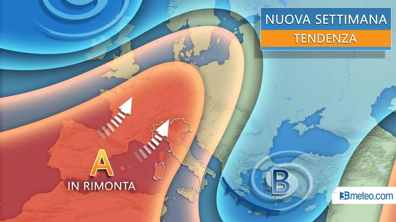 Meteo tendenza per la prossima settimana in Italia