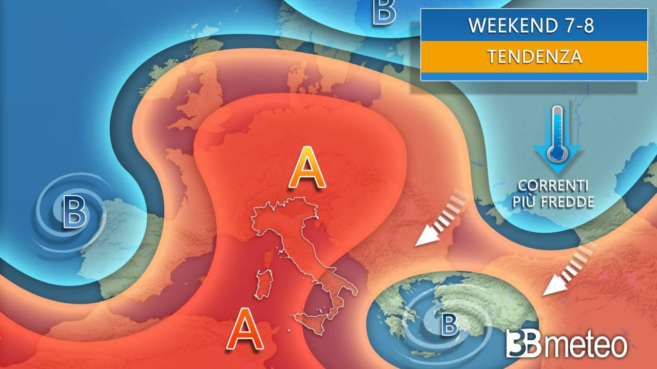 Meteo tendenza weekend 7-8 novembre