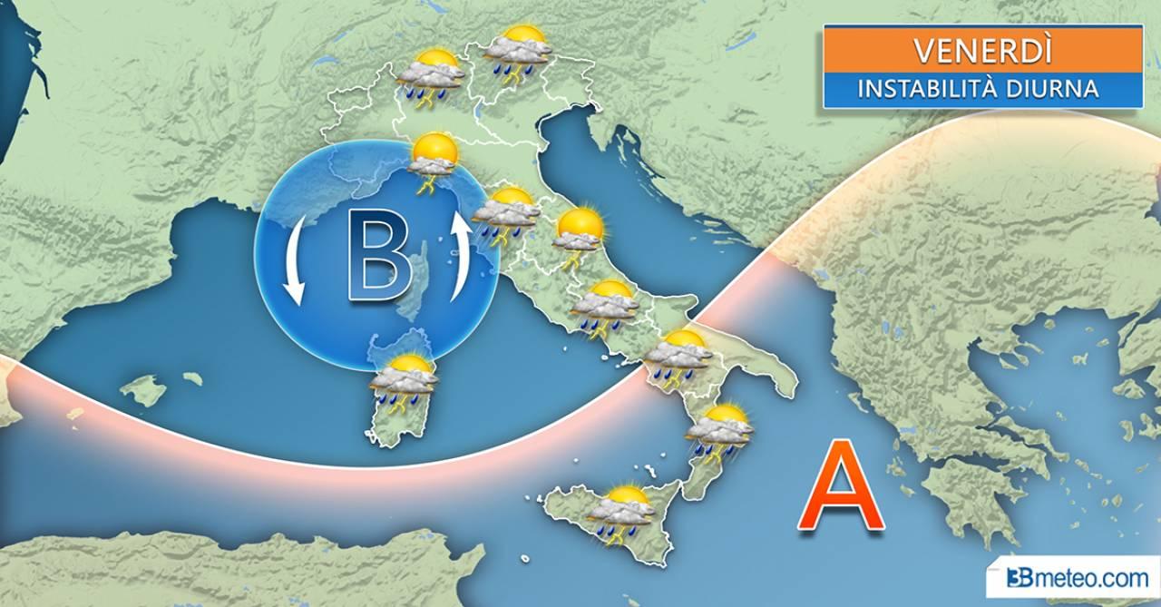 METEO Italia - TEMPORALI in agguato, non solo al Nord ma anche ...