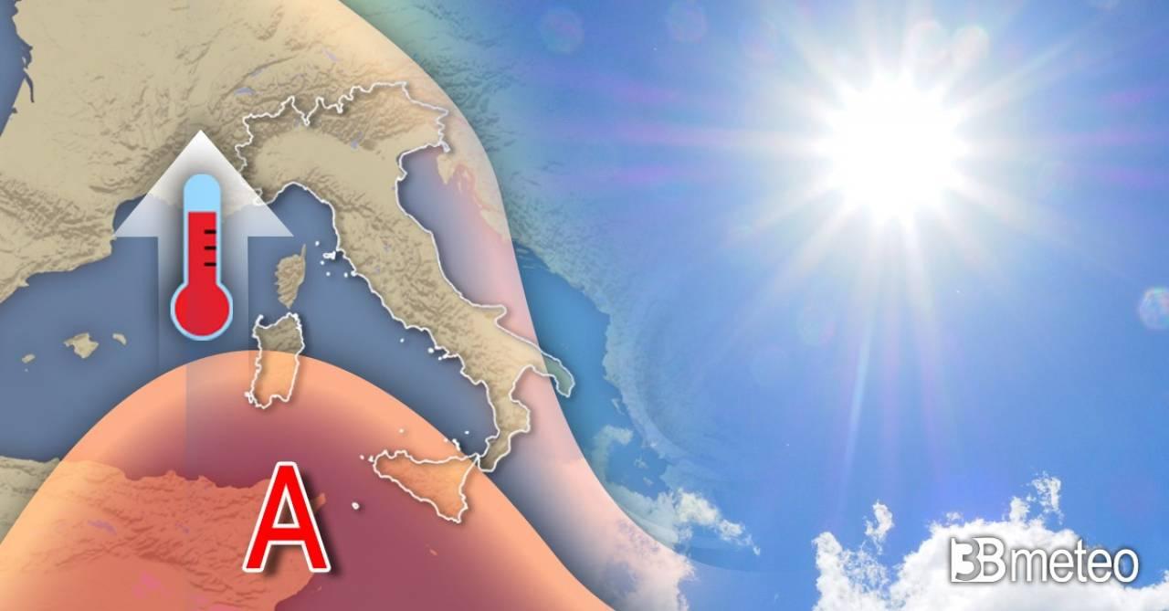 Meteo weekend. Anticiclone in rinforzo e temperature in aumento