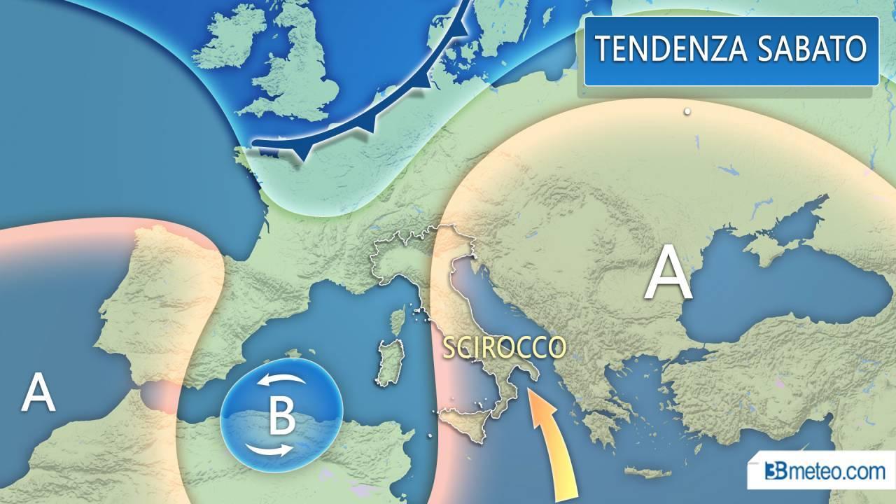 Meteo Italia. Weekend, ancora le ultime piogge ma la pressione è in aumento