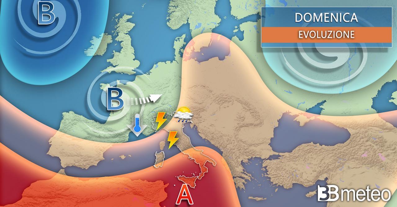 Meteo weekend, avvio anticiclonico poi arrivano i temporali
