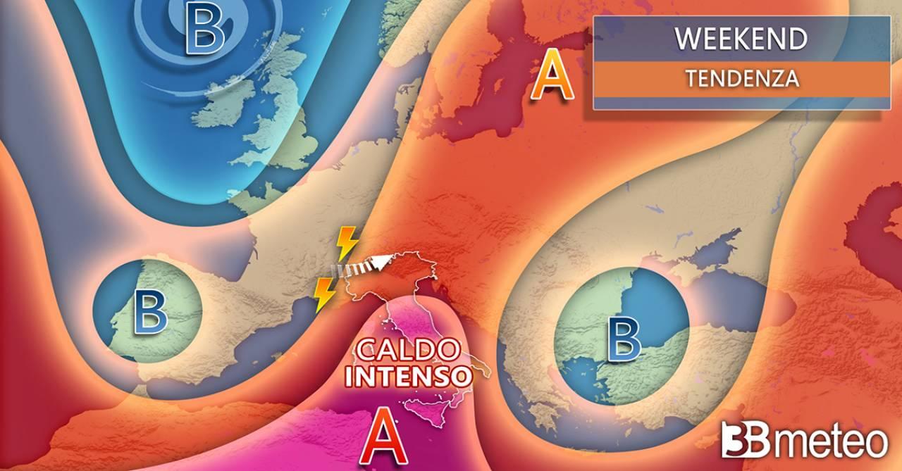Meteo weekend, caldo africano e afa in aumento poi primi segnali di cambiamento