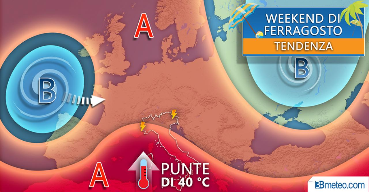 Meteo weekend di Ferragosto