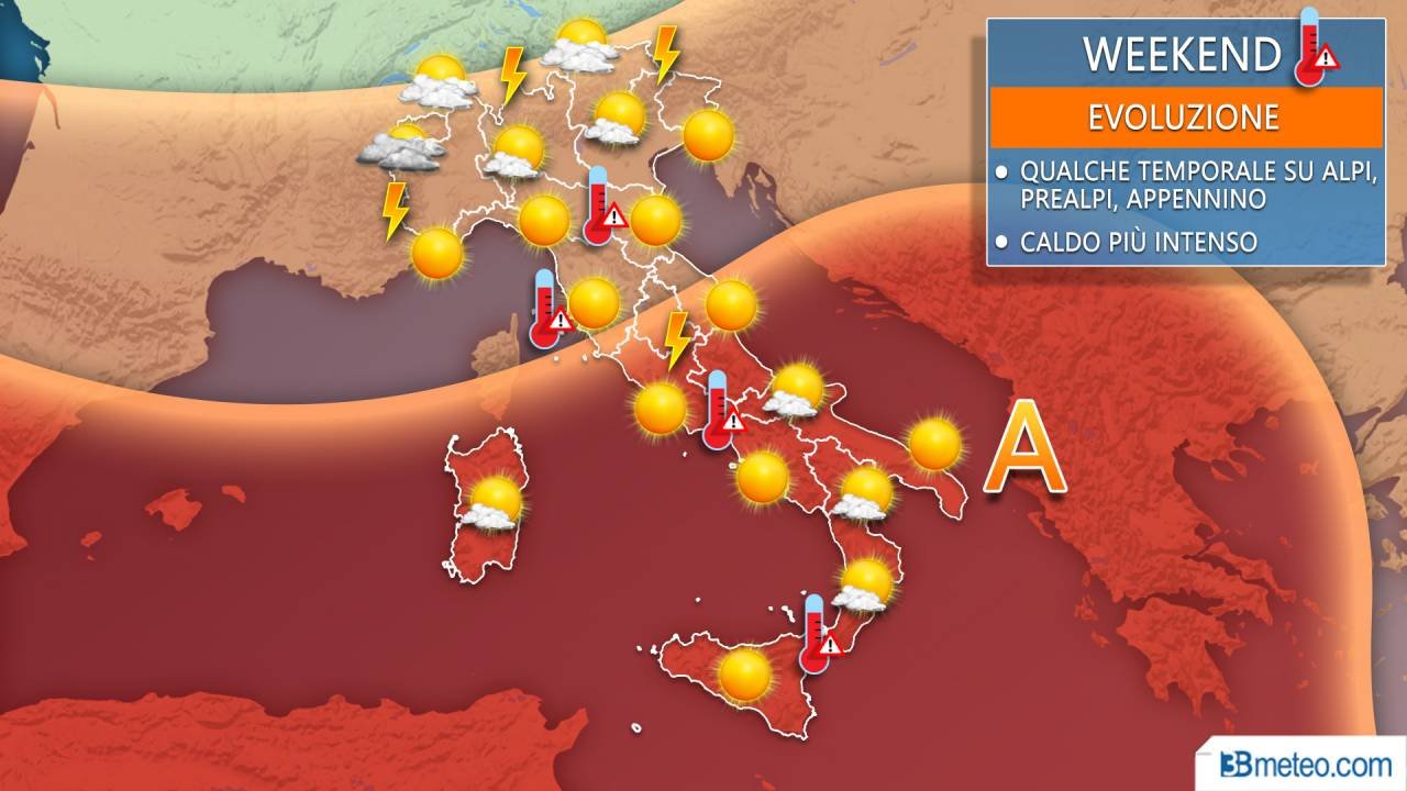 Meteo weekend Italia