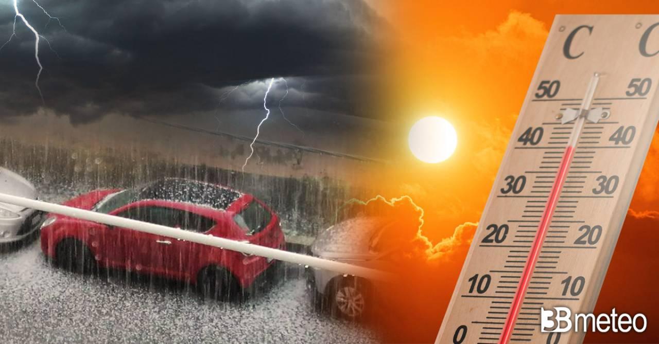 Meteo: weekend tra nubifragi al Nord e gran caldo al Sud