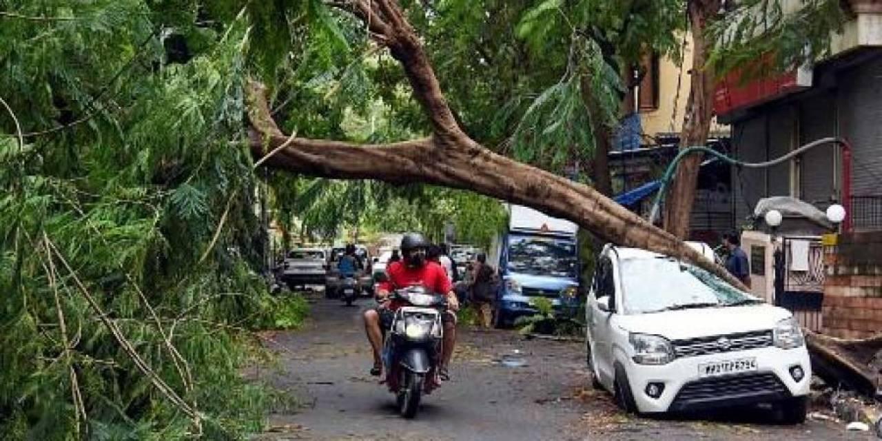 Mumbai il 18 maggio, dopo il passaggio di Tauktae