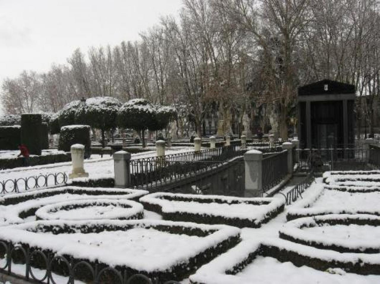 Neve a Madrid in un'immagine di archivio