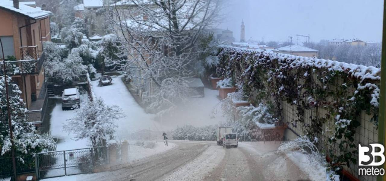 Neve sino in pianura al Nord Italia