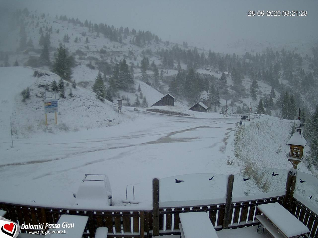 Neve sul Colle Santa Lucia, Dolomiti bellunesi