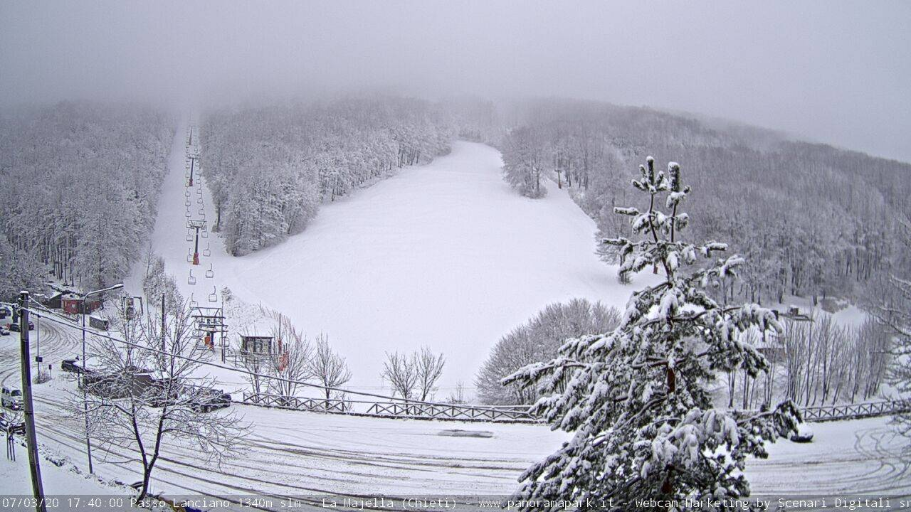 Neve sulla Majelletta