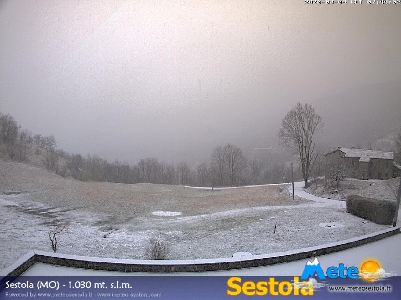Nevica a Sestola, sull'Appennino modenese