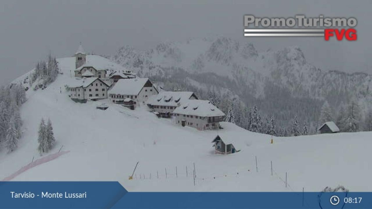 Nevicata a Monte Lussari (UD)