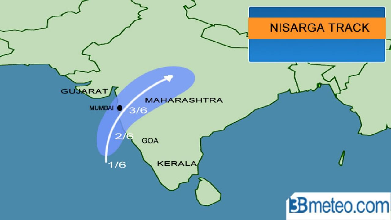 Nisarga sarebbe diretto verso Mumbai