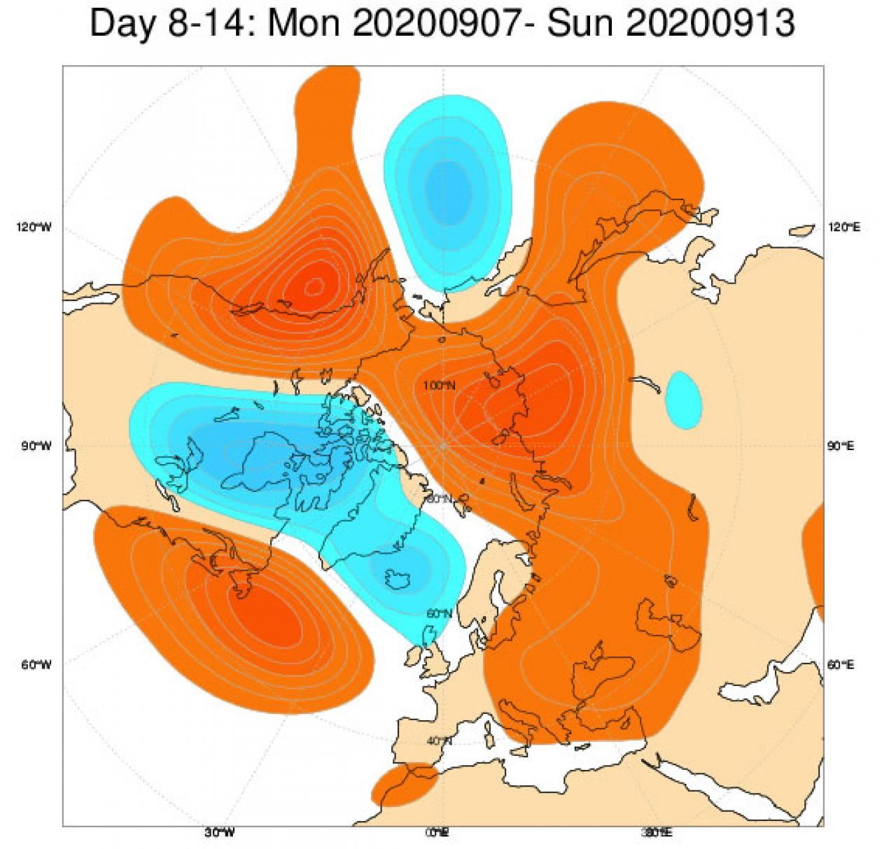 nomalie geop.500 hPa 7-13 settembre (fonte ecmwf)
