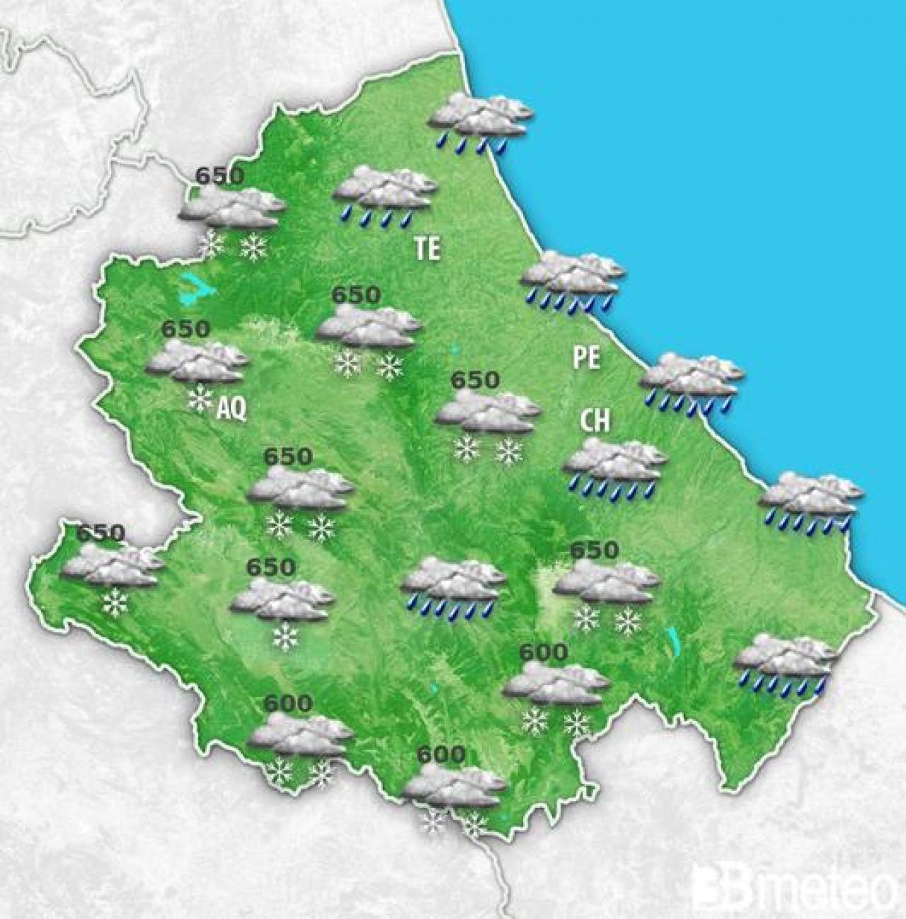 Nuova fase di maltempo dal weekend sull'Abruzzo