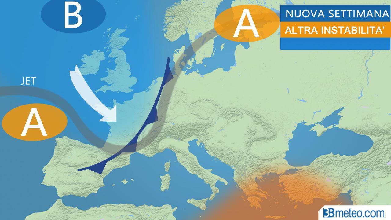 Meteo Italia. Nuova settimana senza anticiclone. Quali conseguenze?