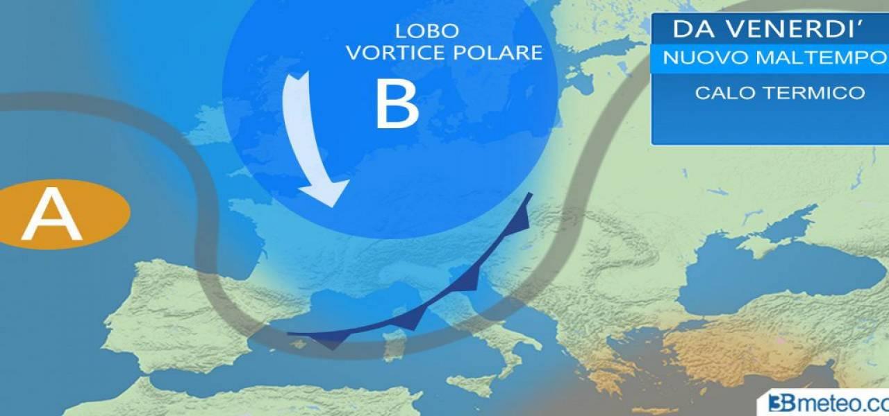 Meteo ITALIA: nuova IRRUZIONE ARTICA tra venerdì e sabato