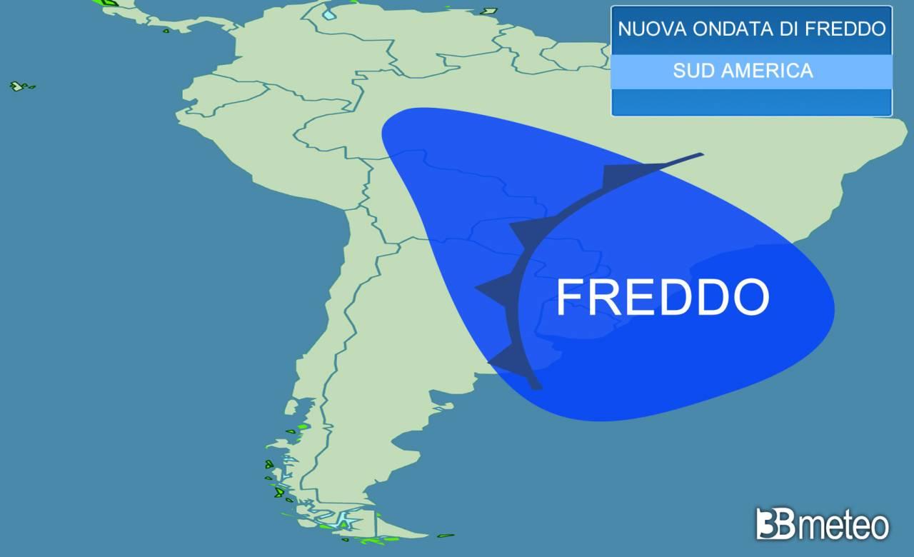 Meteo. Nuova ondata di FREDDO nel Sud America, NEVE e pioggia gelata in Brasile