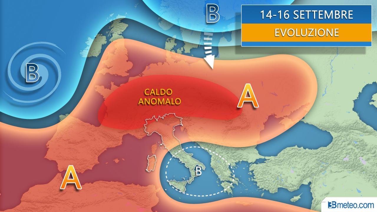 Nuova settimana tra alta pressione e insidie mediterranee