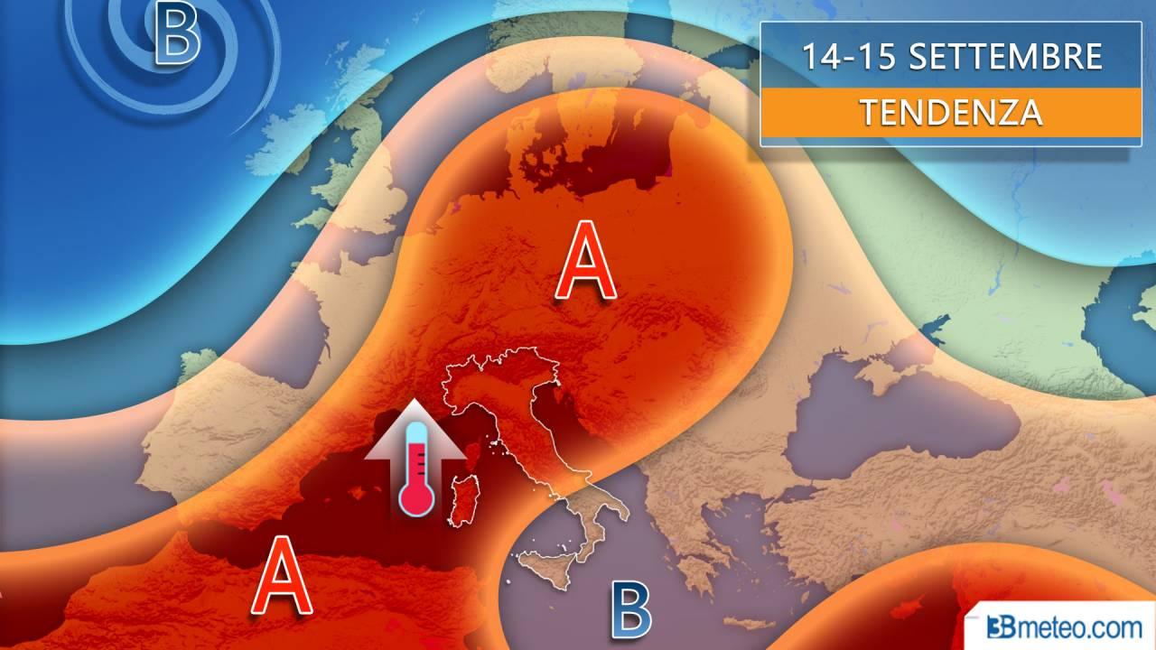 Nuova settimana tra caldo anomalo e improvvisi temporali