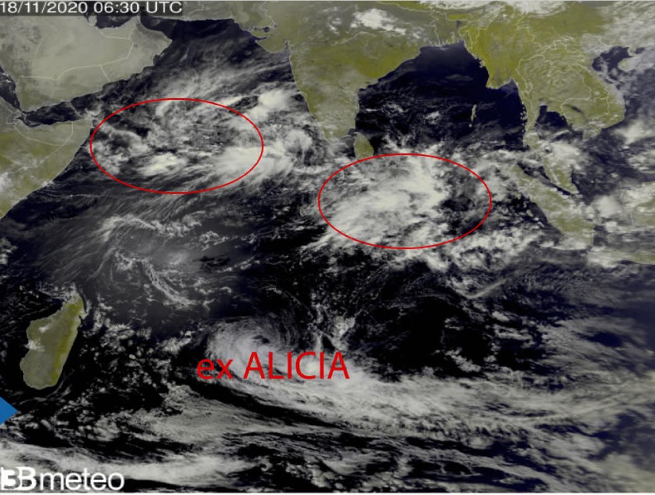 Oceano Indiano, al via stagione dei cicloni