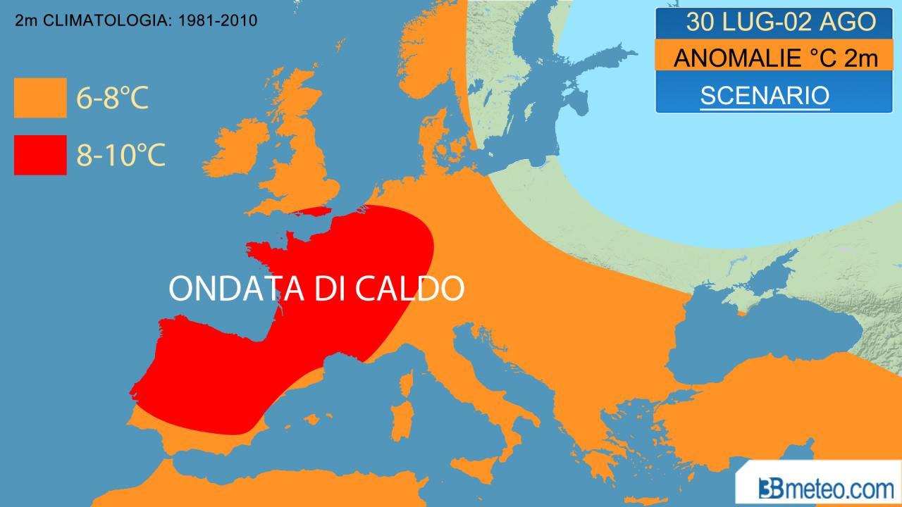 ondata di caldo per l'Europa