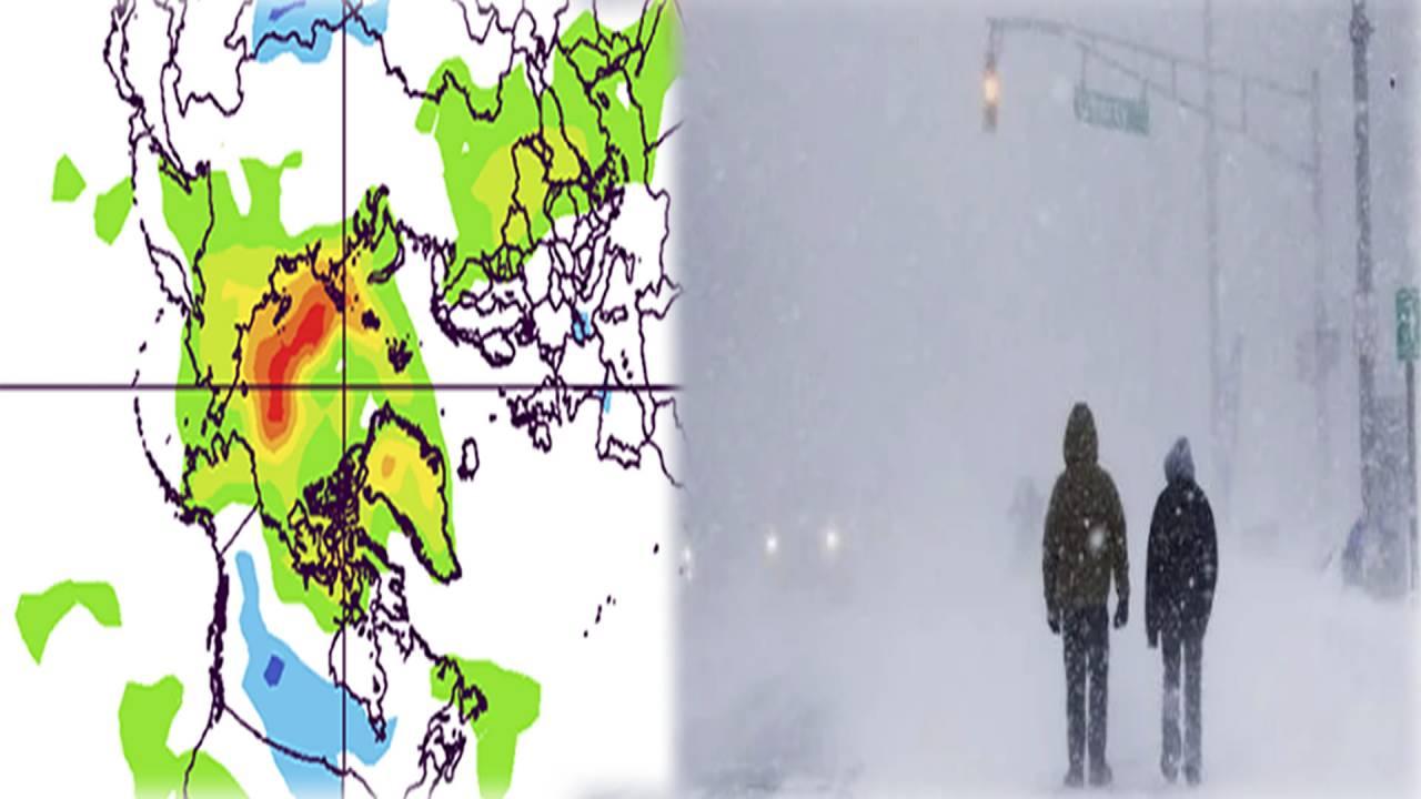 ondata di freddo sul Nord America e artico caldo