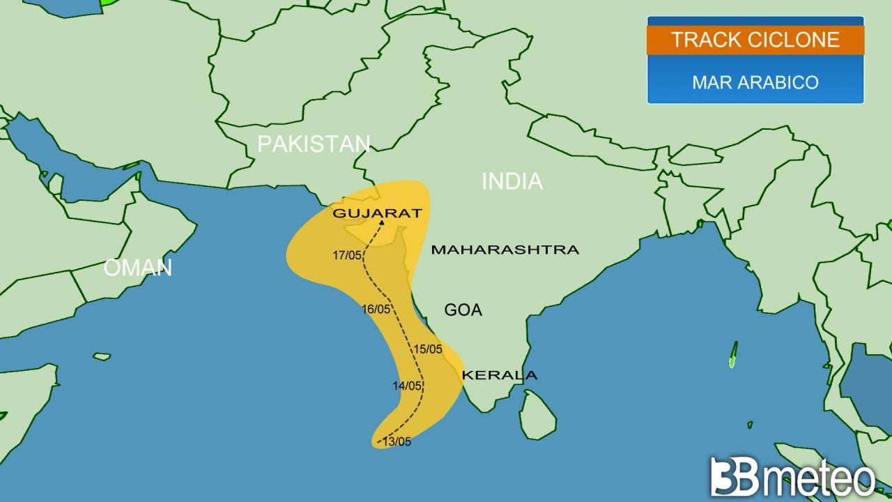 Meteo. Verso la formazione del CICLONE TAUKTAE, allerta in INDIA