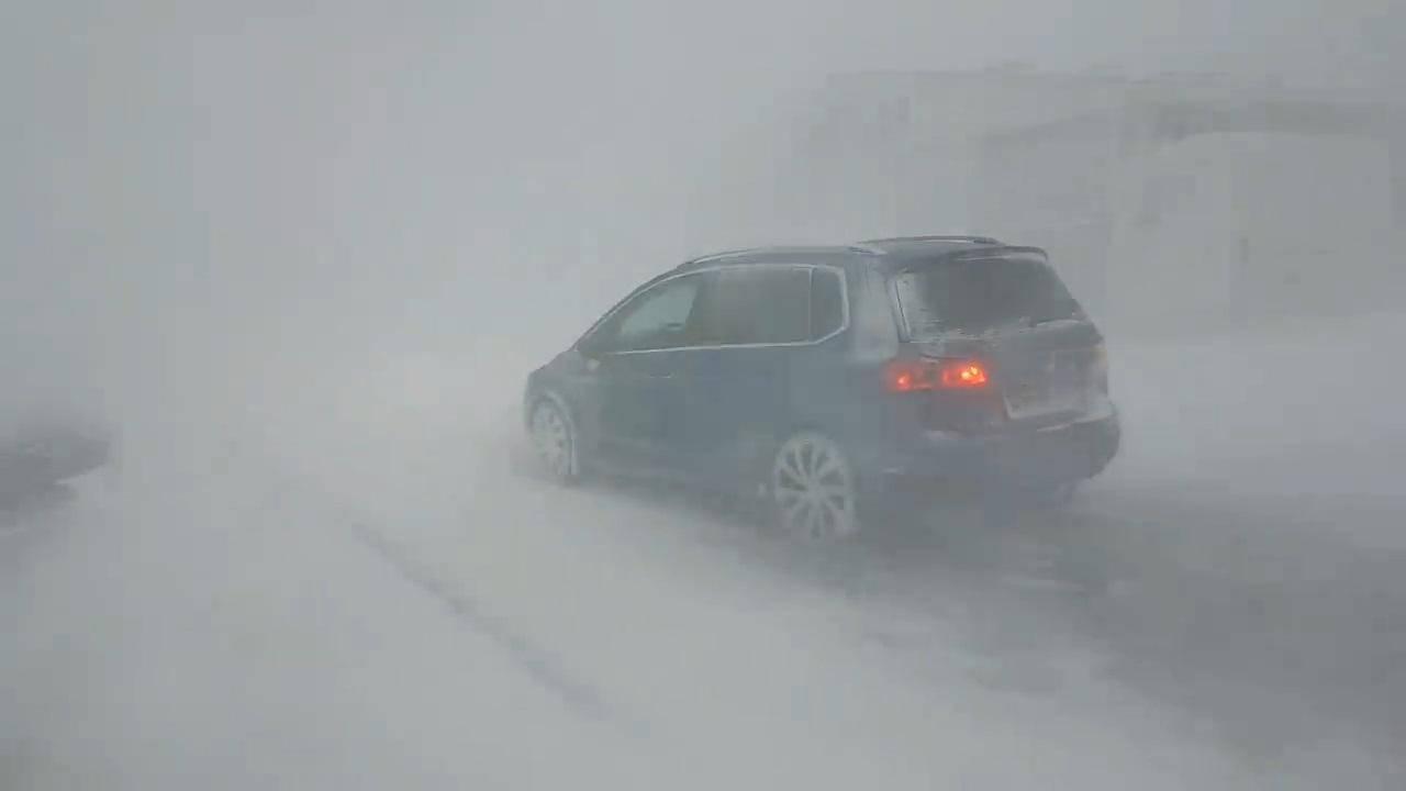 Potenti blizzard sull'Islanda