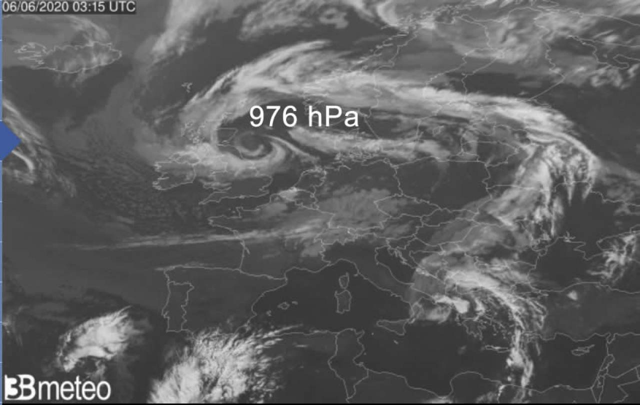 pressione insolita sul mare del Nord per giugno