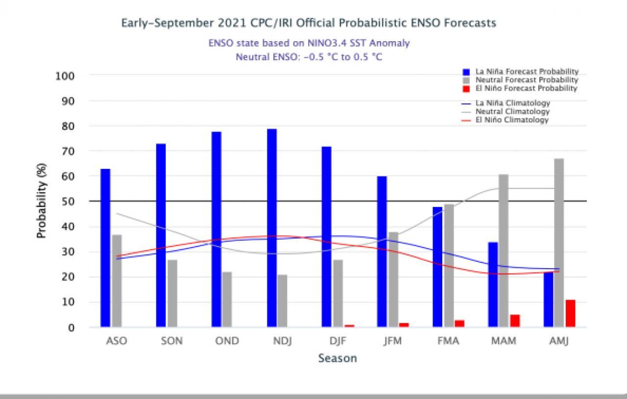 previsione probabilistica Enso secondo Cpc/Iri