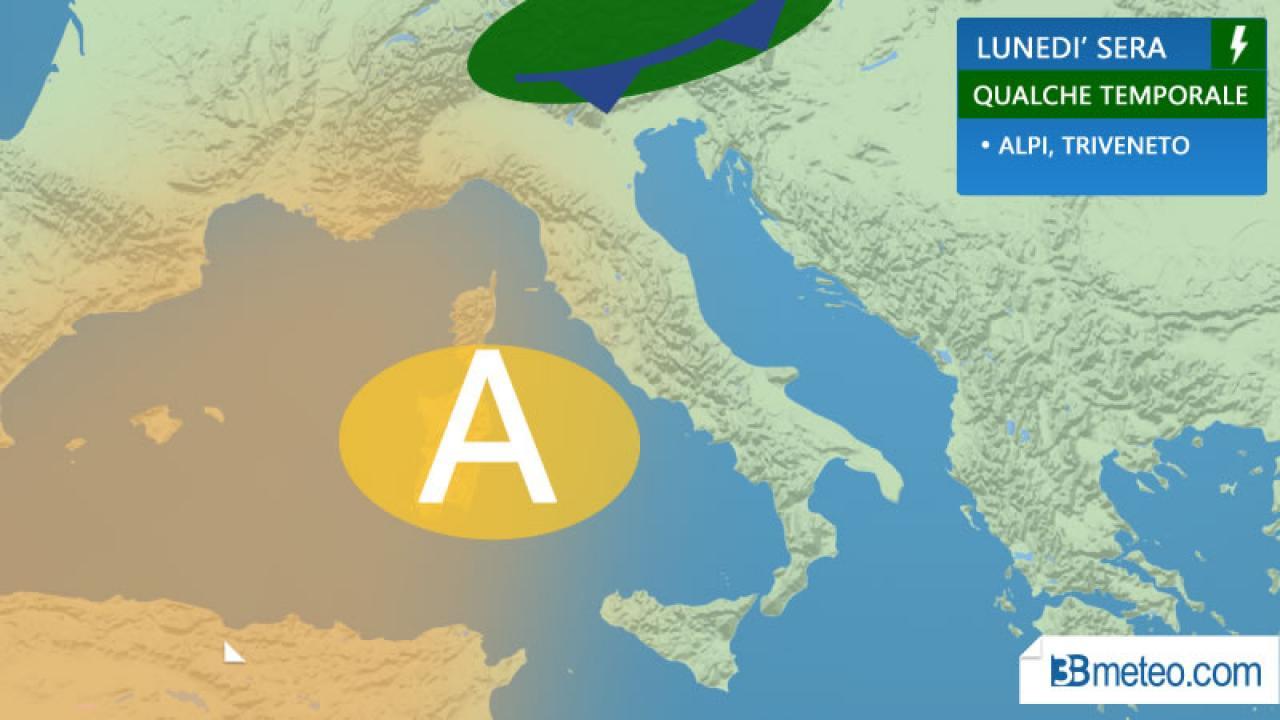 Meteo Italia. Lunedì toccherà ad alcuni temporali. Ecco dove