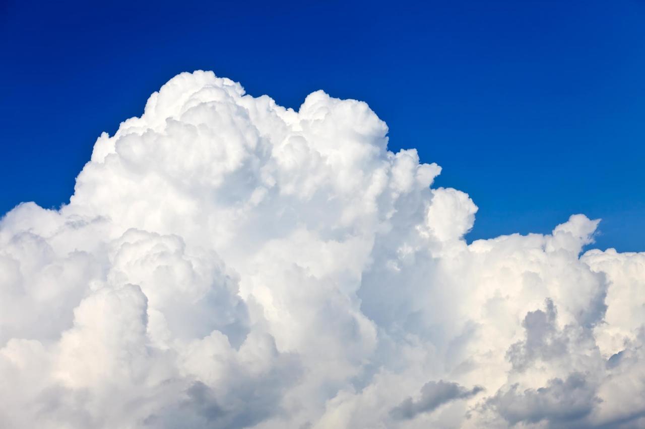 Quanto pesa una nuvola?