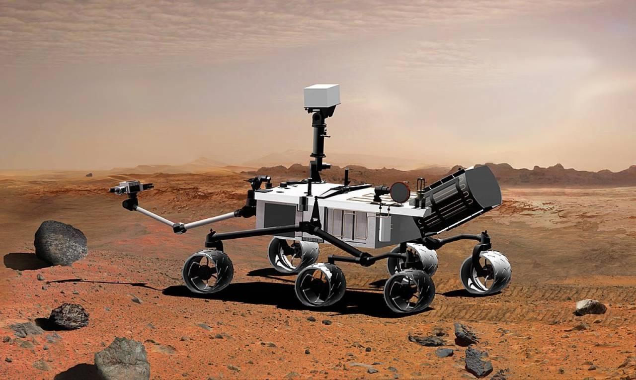 Rappresentazione del Mars Science Laboratory (Fonte: wikipedia)