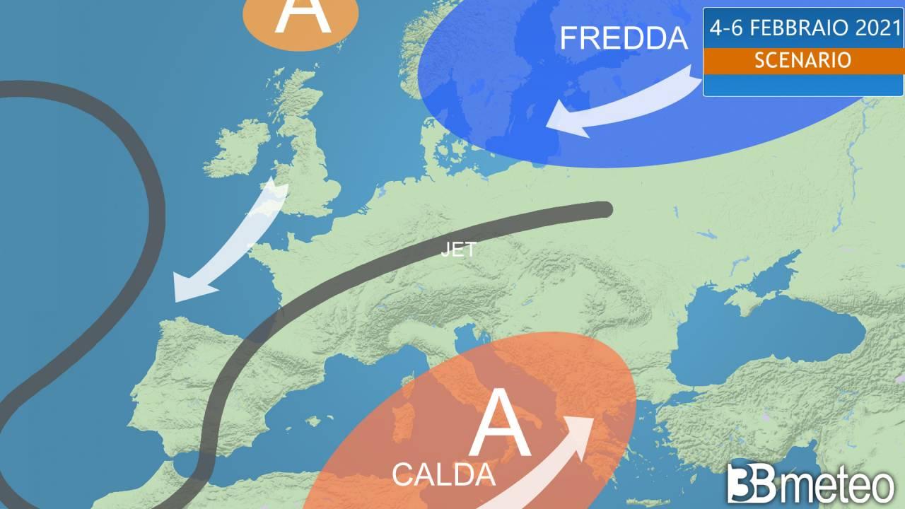rimonta calda sub tropicale sull'Europa sud orientale