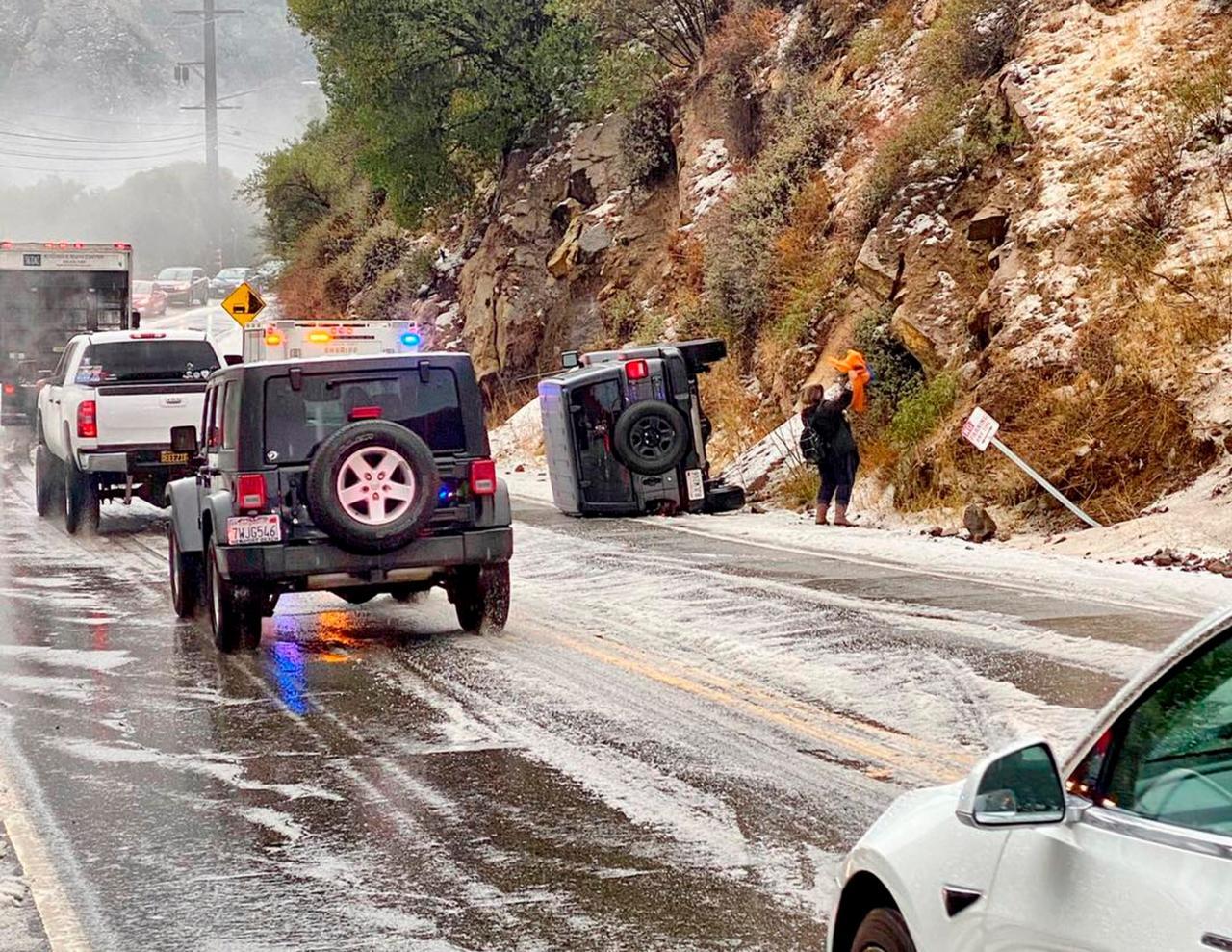 Rischio frane e smottamenti in California per il maltempo. Fonte immagine USATODAY