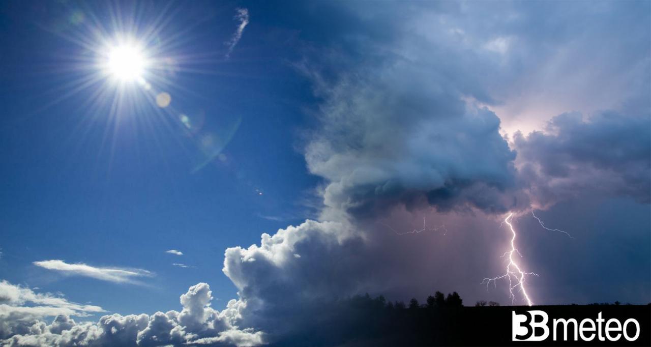Rischio improvviso forti temporali e grandine nei prossimi giorni