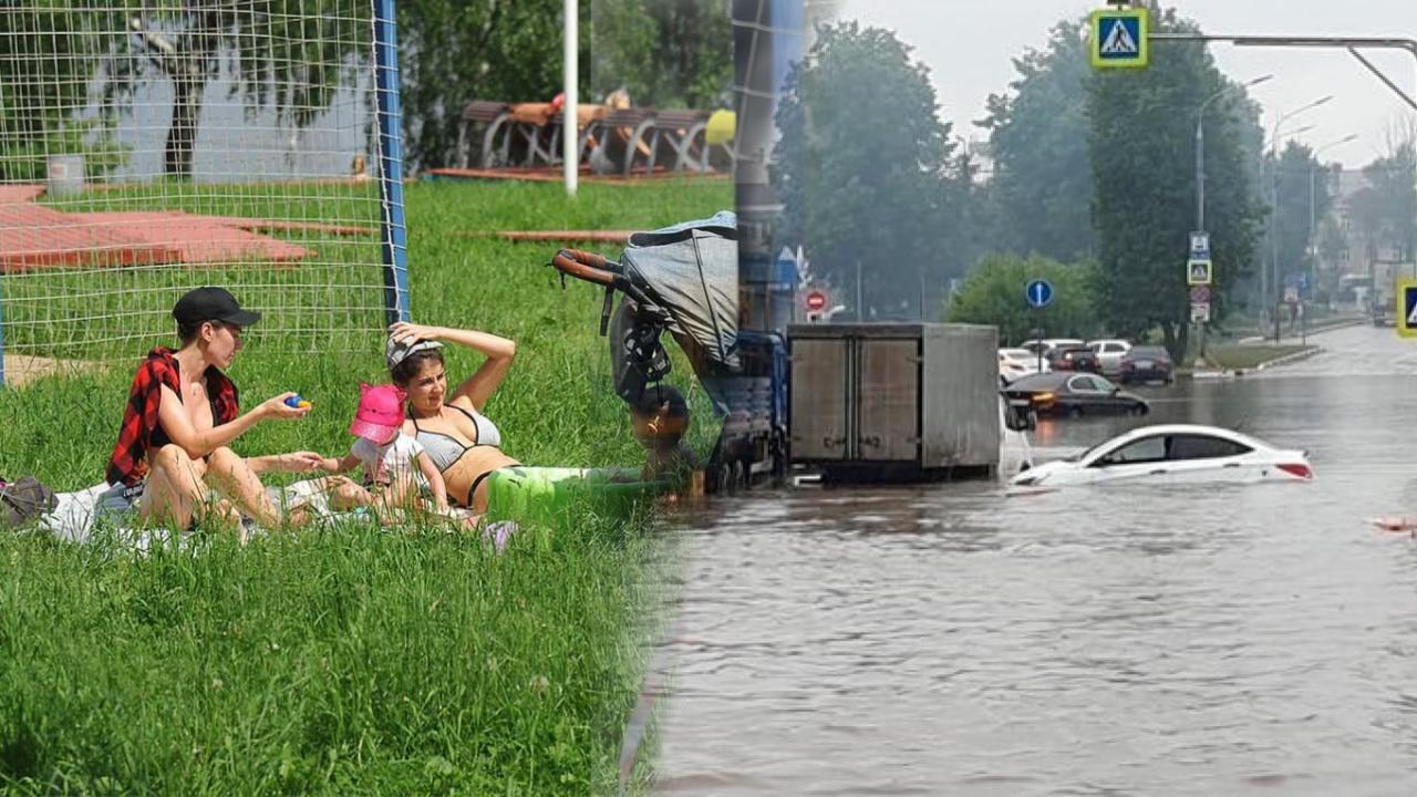 METEO CRONACA DIRETTA: RUSSIA DAL CALDO RECORD ALLE ALLUVIONI. Foto e video
