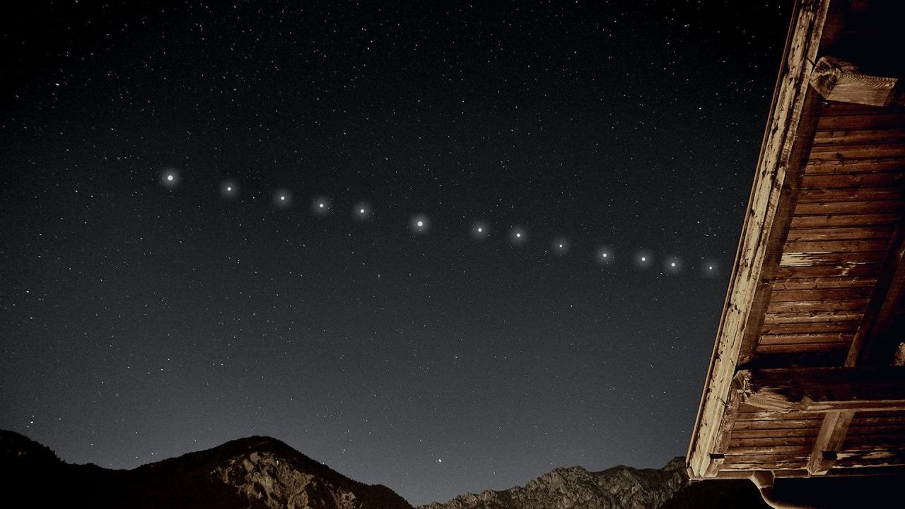 Satelliti Starlink come e quando osservarli in Italia