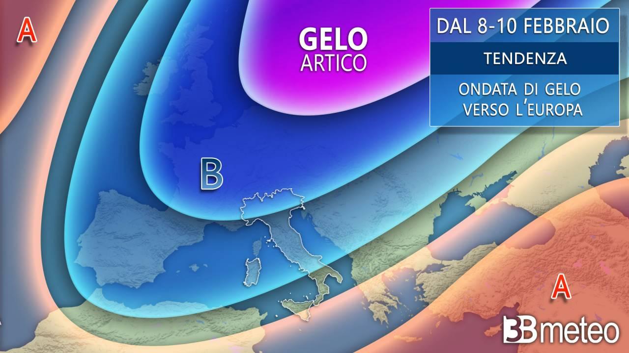 Seconda settimana di Febbraio, il gelo punta l'Europa