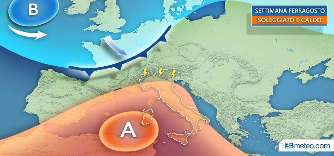 Meteo Italia- Alcuni temporali al Nord e in Appennino; prevalenza di sole altrove