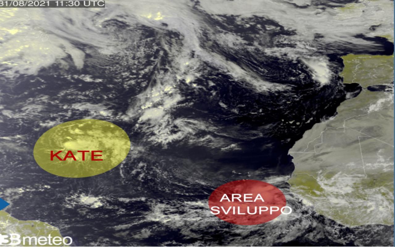 situazione attività cicloni in Atlantico