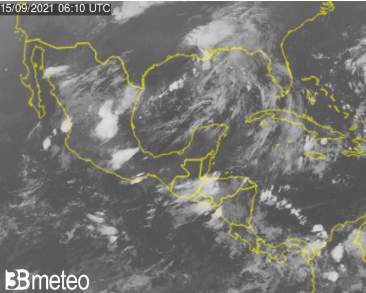 Situazione satellite sul Golfo del Messico