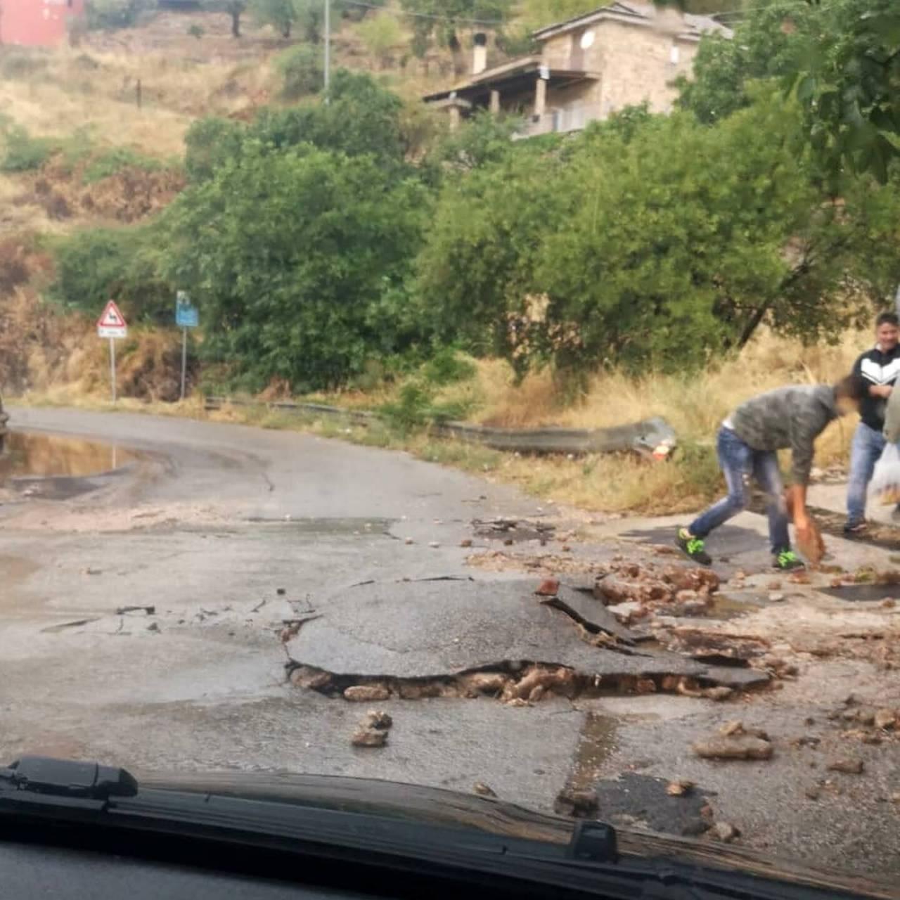 Smottamenti via San Nicandro (Fonte Foggiatoday)