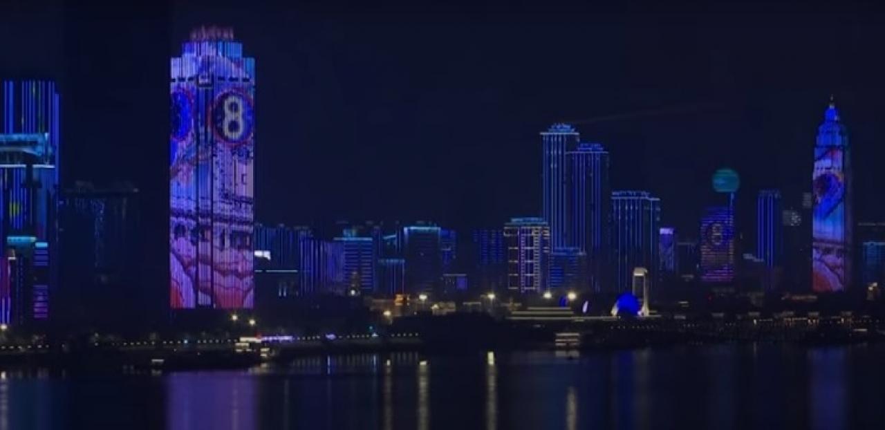 Spettacolo di luci e colori a Wuhan
