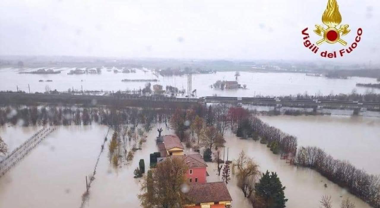 straripamento di alcuni fiumi nel modenese