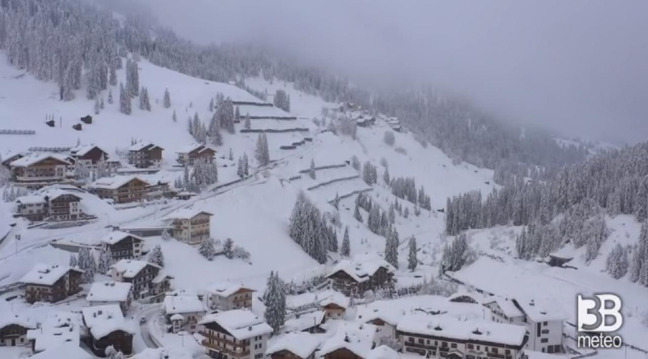tanta neve sulle Alpi