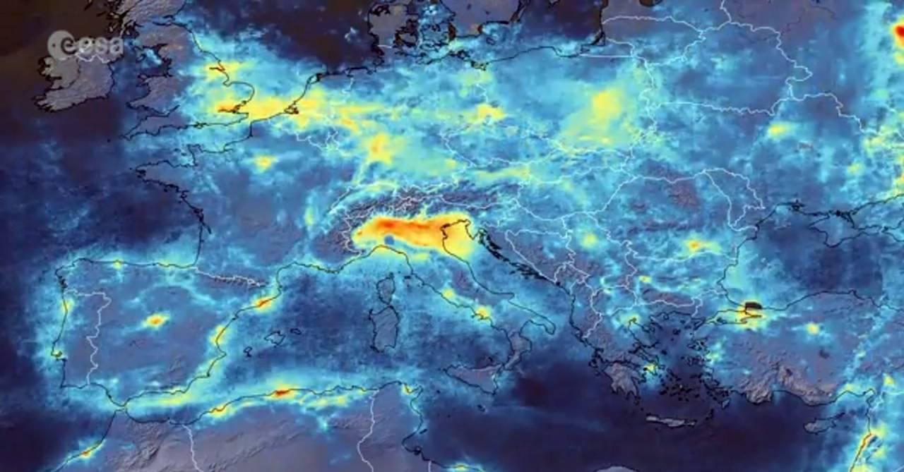 Cartina Satellitare Lombardia.Foto Satellite Italia Ai Tempi Del Coronavirus Riduzione Dell Inquinamento Tra Febbraio E Marzo 3b Meteo